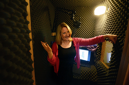Alison Larkin in her recording studio.